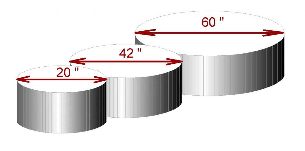 diámetro cilindro maquina circular